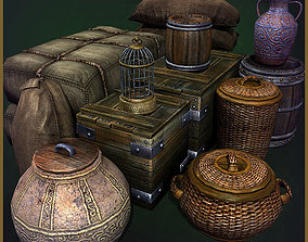 12 Old Containers 3D model
