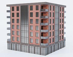 City building low-poly 3D asset