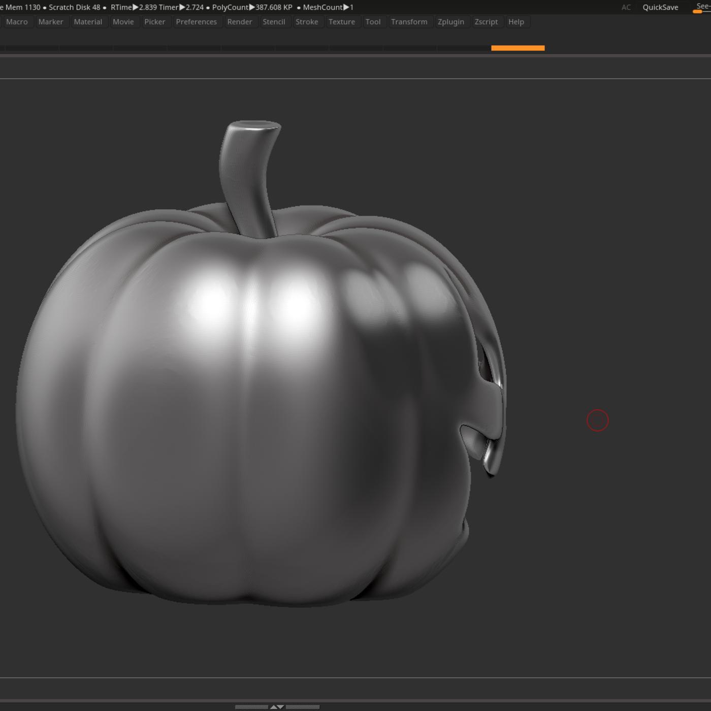 halloween pumpkin 3D print model