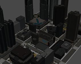 3D model Realistic City