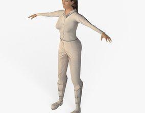 3D model Low Poly Scifi Girl