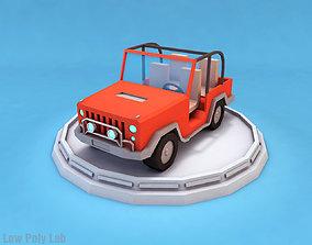 Cartoon Car Jeep 3D model
