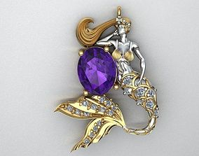 Mermaid Pendant No 2 3D printable model