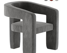 3D model Upholstered 3-Leg Chair West Elm