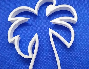 3D printable model cookie cutter palm