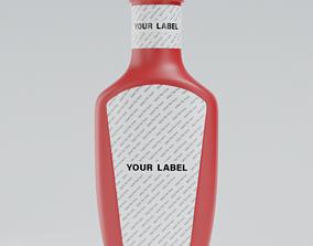3D model Sauce bottle for mockup