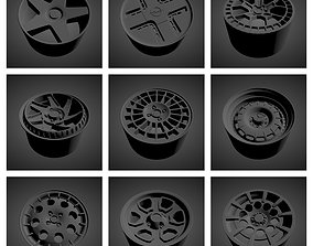 3D New stock of 87 models of wheels scalable and printable