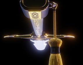 Obsidian Dragon Sword 3D asset VR / AR ready
