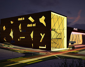 Multipurpose Retail Building 3D Model
