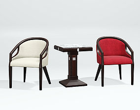 Table and chair 3D model VR / AR ready