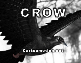Crow - Animated 3D asset