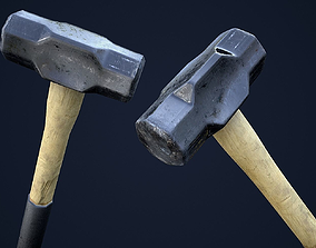 3D asset Sledge Hammer 1 Plus 1 PBR Game Ready
