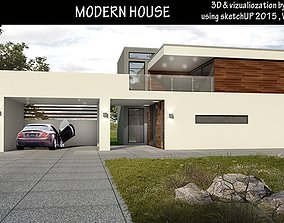 game-ready modern house with pool and outdoor kitchen