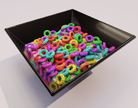 3D Ring Colored cereal
