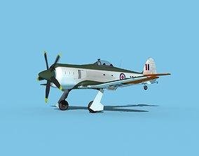 3D model Hawker Sea Fury V15 RCAF