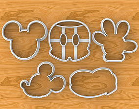 Mickey Mouse Cookie Cutter Set Head Hand Shoe and Pants 3D