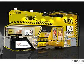 Booth Design Dupont size 8 X 4m 32sqm 3D model