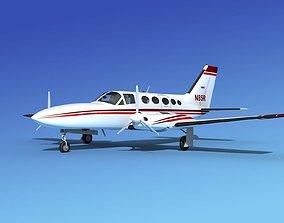 Cessna 414A Chancellor V08 3D