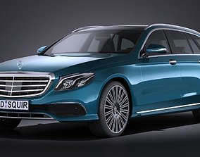 3D Mercedes-Benz E-Class Estate 2017