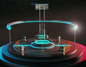 Sci-fi Teleport platform 3D model