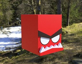 Cubic Angry Character GAME ASSET 3D model