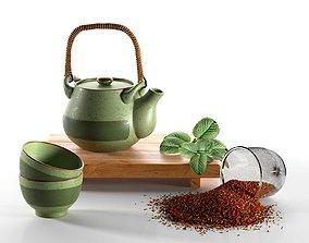 3D Rustic Tea Set