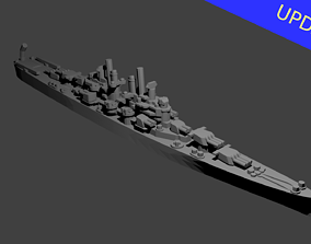 US Cleveland Class Cruiser Warship 3D printable model