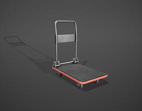 3D model Folding Platform Truck - Trolley - Red Accents