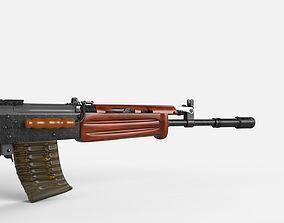 INSAS 1B1 Assault Rifle 3D model