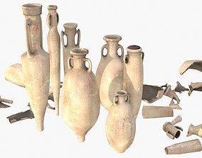 Amphora - Damaged Sand Terracotta 3D asset