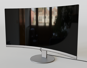 3D model PC Curved Screen