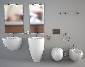 Bathroom Furniture Set egg 3D model