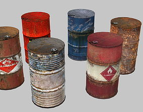 Oil Barrels Pack 3D asset