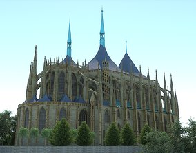 Saint Barbaras church -Kutna Hora- Czech 3D