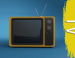 3D model television Retro TV