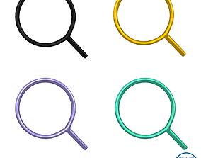 3D model Search Symbol V1 Pack 02