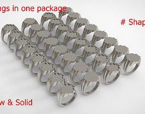 3D print model Signet Men Ring Pack No 19