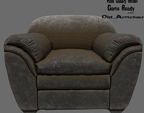 Armchair 3D asset lounge-chair