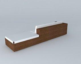 Sofa Fiber 3D model