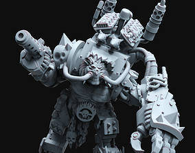 The ImmOrkan Mad Max style Orc Warboss 3D print model
