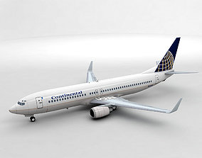 Boeing 737-800 NG Airliner - Continental Airlines 3D