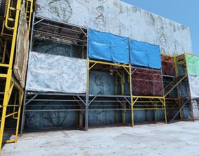 Scaffold 3D model game-ready