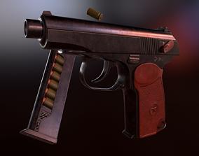 Makarov Pistol 3D asset low-poly