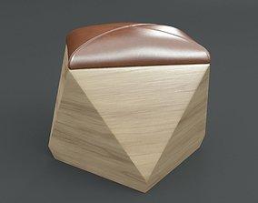 3D PBR Hexagon Wood Ottoman-Chair