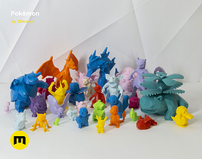 3D printable model 30 Lowpoly Pokemon gyarados