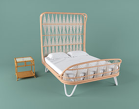 3D model Ara Bed and Regeant Side Table