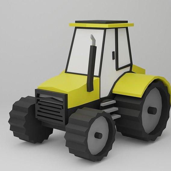 Tractor Cartoon style