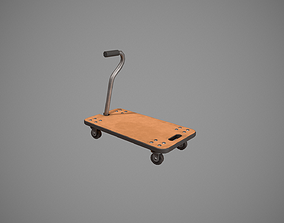 Transport Trolley - Wood 3D asset