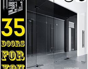 3D Door - partitions with sandblasted