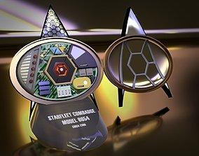 3D Star Trek TNG Combadge 8654 - With Internals